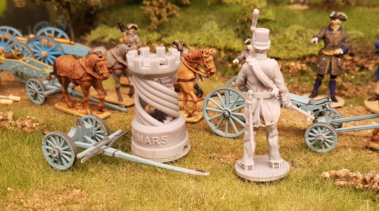 Swedish  artillery back